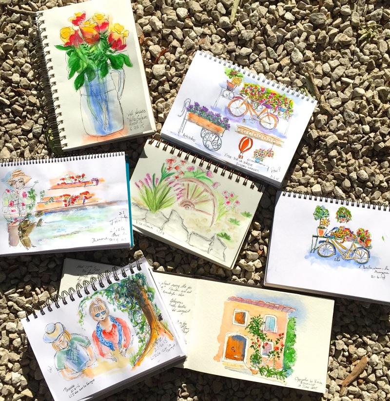 Sunday. Sketches around l'isle Sur La Sorgue