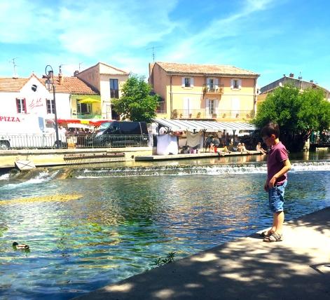 Sunday. Water surrounding L'Isle Sur La Sorgue