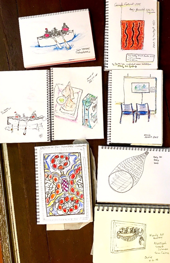 Thursday. Manly Art Gallery sketches