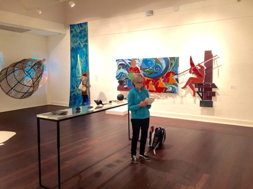Thursday. Sketching at Manly Art Gallery