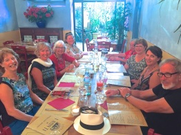 Tuesday evening. Almost everyone at dinner in Pisa.