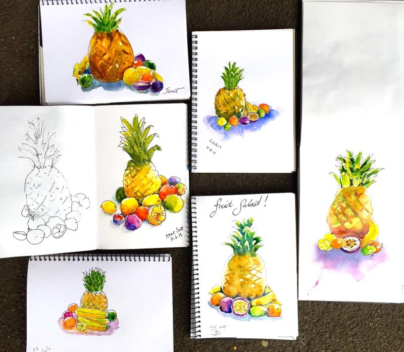 Tuesday. Fruit still life