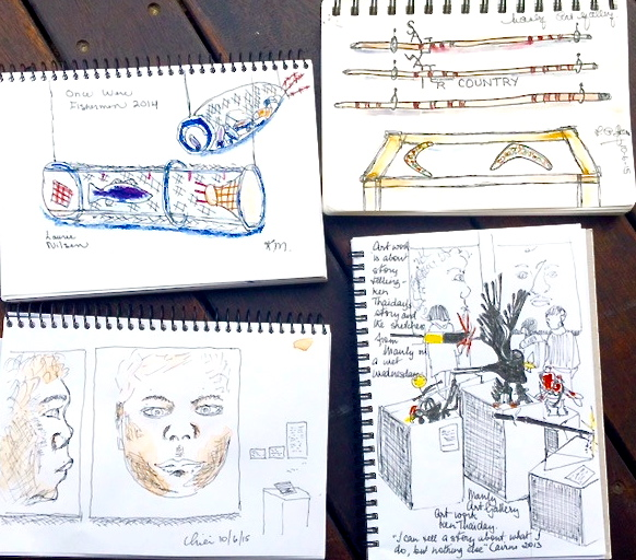 Wednesday. Sketches from Manly Art Gallery