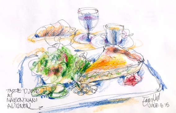 Avignon. Lunch sketch the day we were leaving
