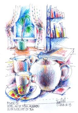 Avignon. Time for tea. Hotel St Roch