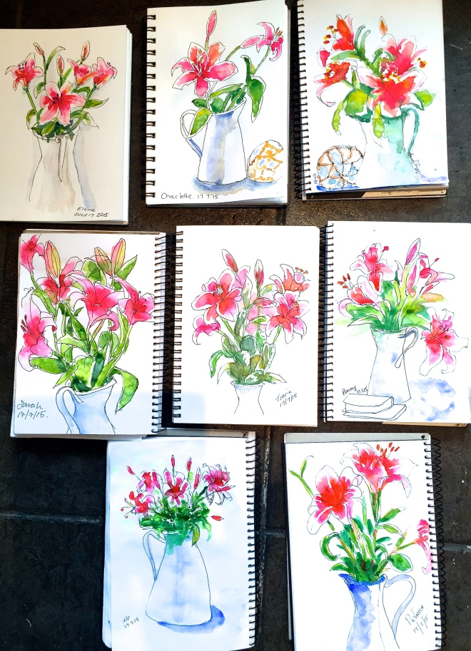 Friday Oriental Lily sketches
