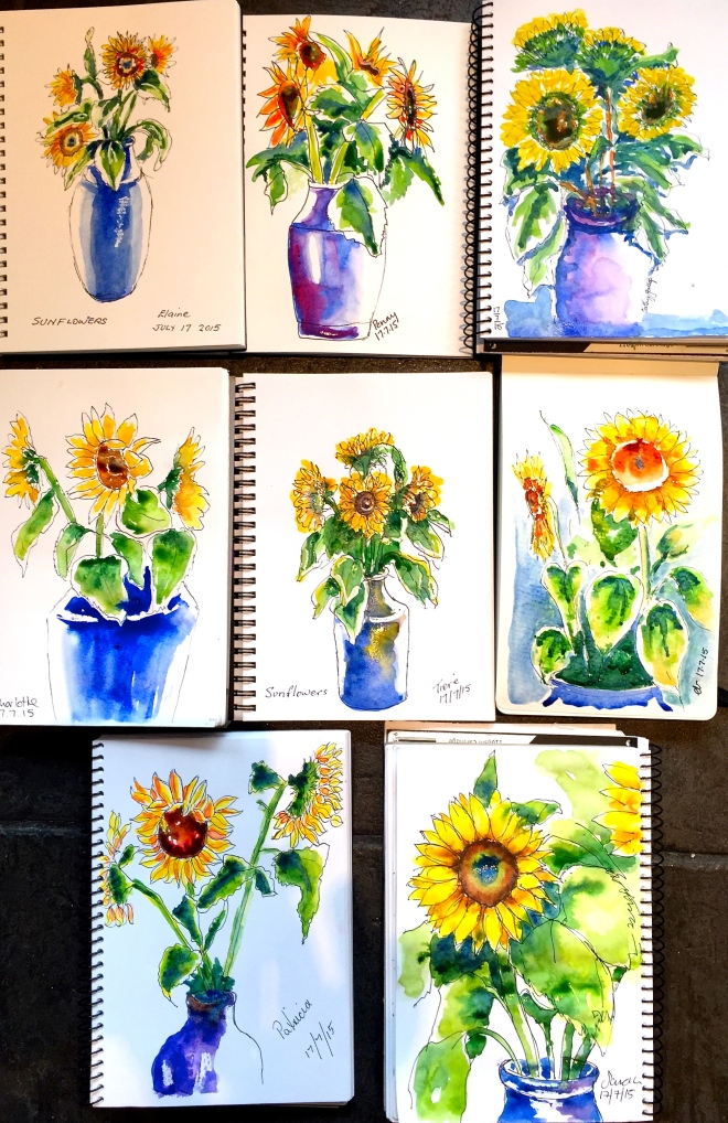 Friday. Sunflower Sketches