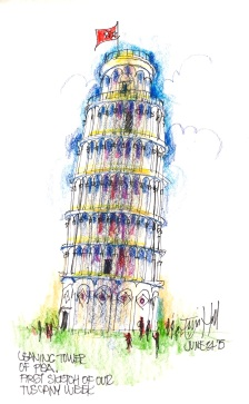 Pisa. First sketch of the day