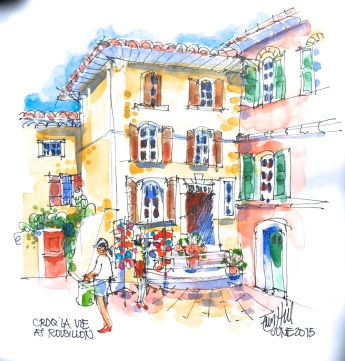 Roussillon. The 'ochre' town