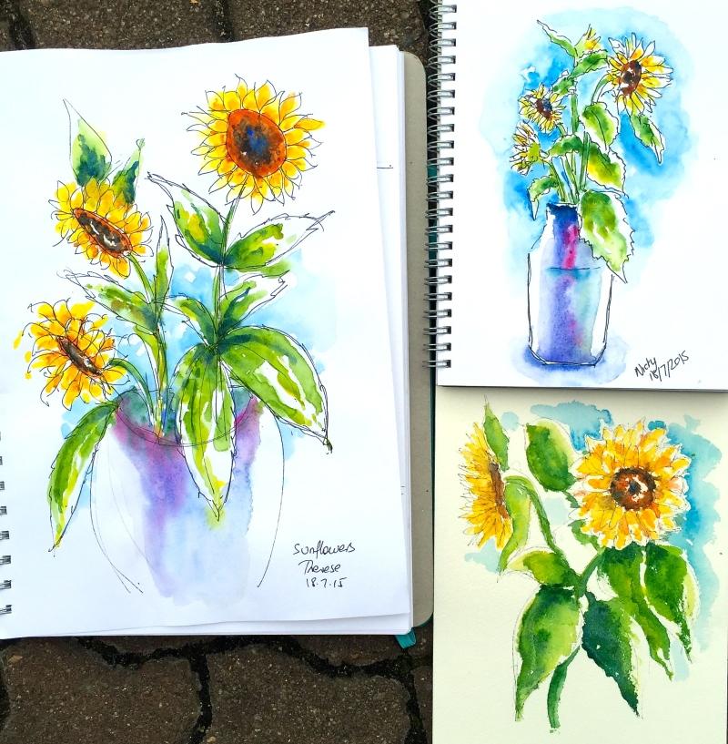 Saturday Regulars. Sunflowers
