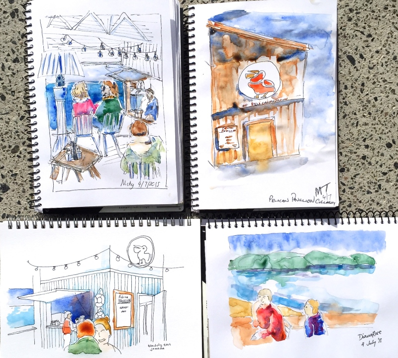 Saturday. Sketches from Pelican Pavilion
