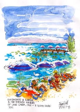Sirmione. Lake Garda. Hot day at the beachjpg