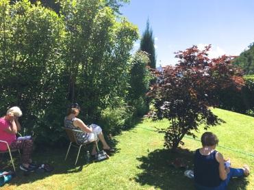 Sketching the garden