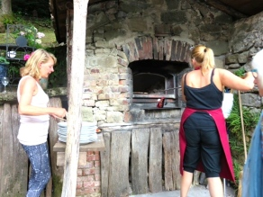 Sunday. Cooking the pizza oven jpg