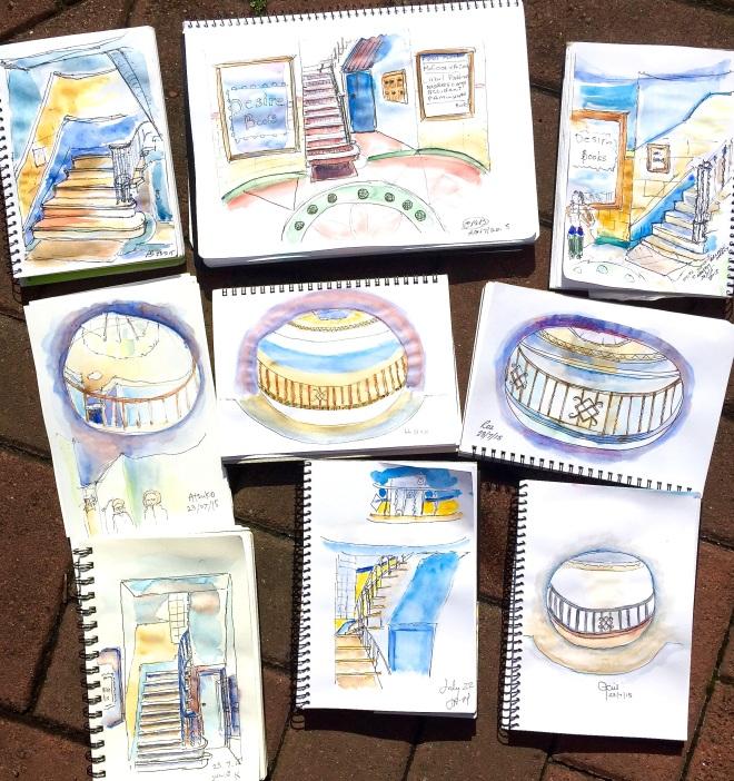 Thursday Chancery Arcade sketches