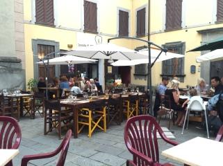 Thursday. Dining in Barga