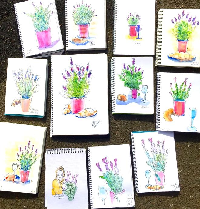 Thursday lavender sketches