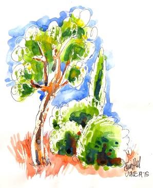 Tree & Chinagraph demo