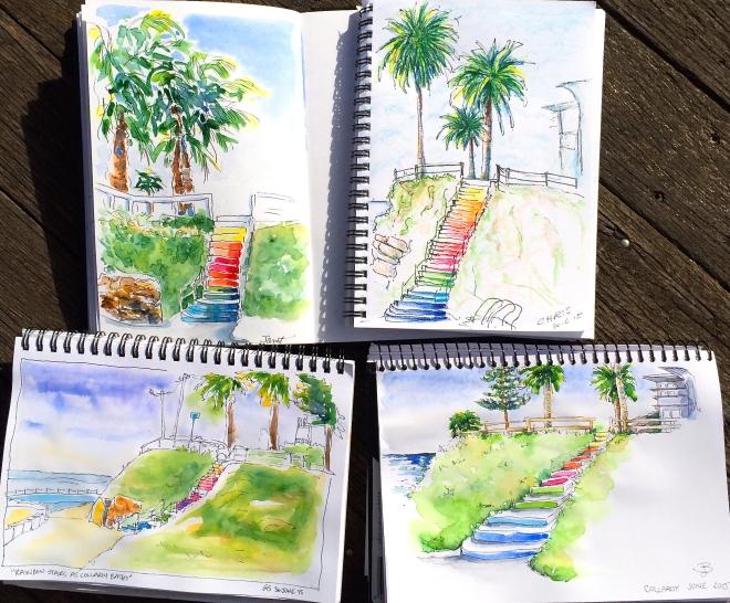 Tuesday. The rainbow steps