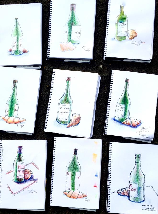 Wednesday. Bottles an shine