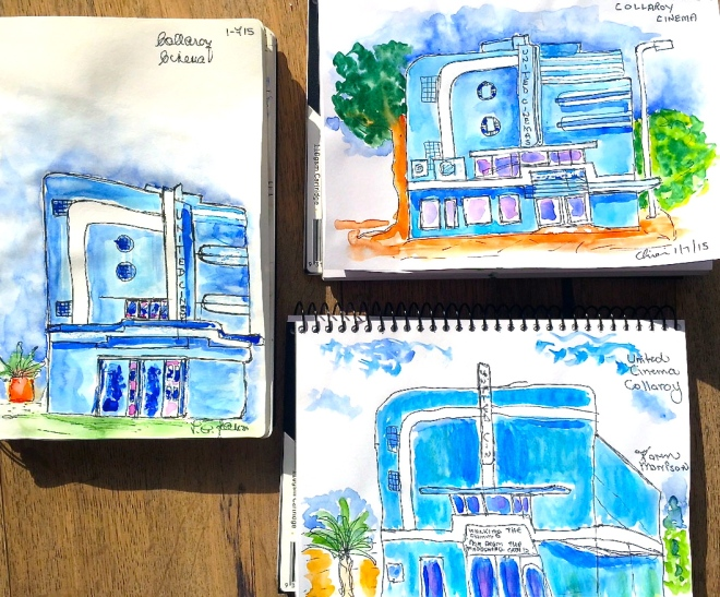 Wednesday. Cinema Sketches