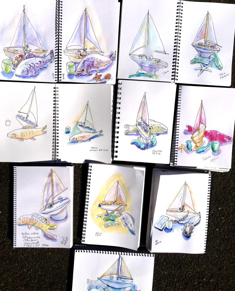 Friday. Sailing sketches