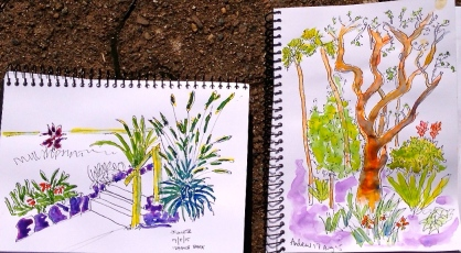 Monday. Sketches from Ivanhoe Pk