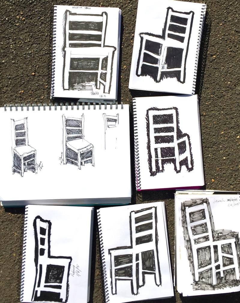 Saturday. Negative space chair