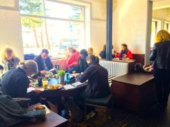 Saturday. People sketching at The Steyne