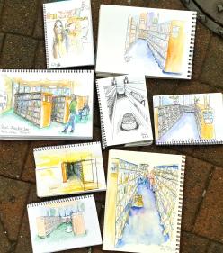 Saturday. Perspective sketches