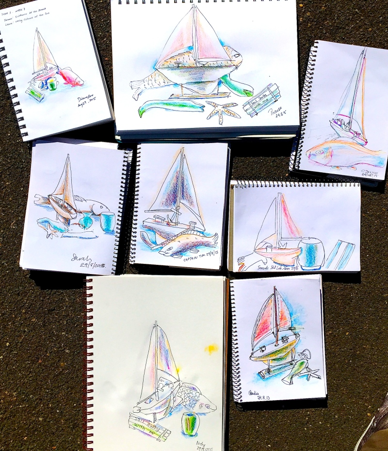 Saturday W'colour Pencil sketches