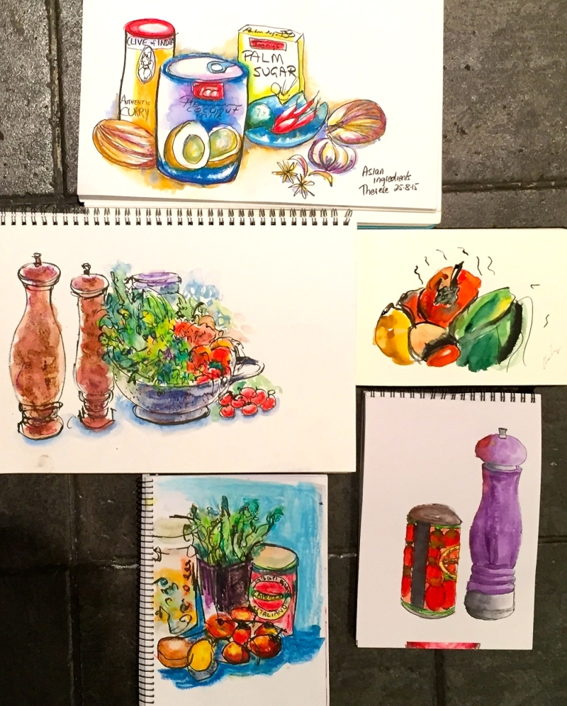 S&W. Food sketches