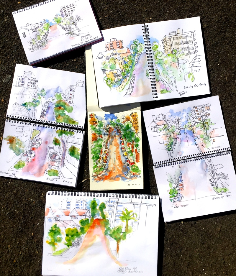 Thursday. Birkley Rd sketches
