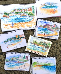 Thursday. Manly Beach sketches