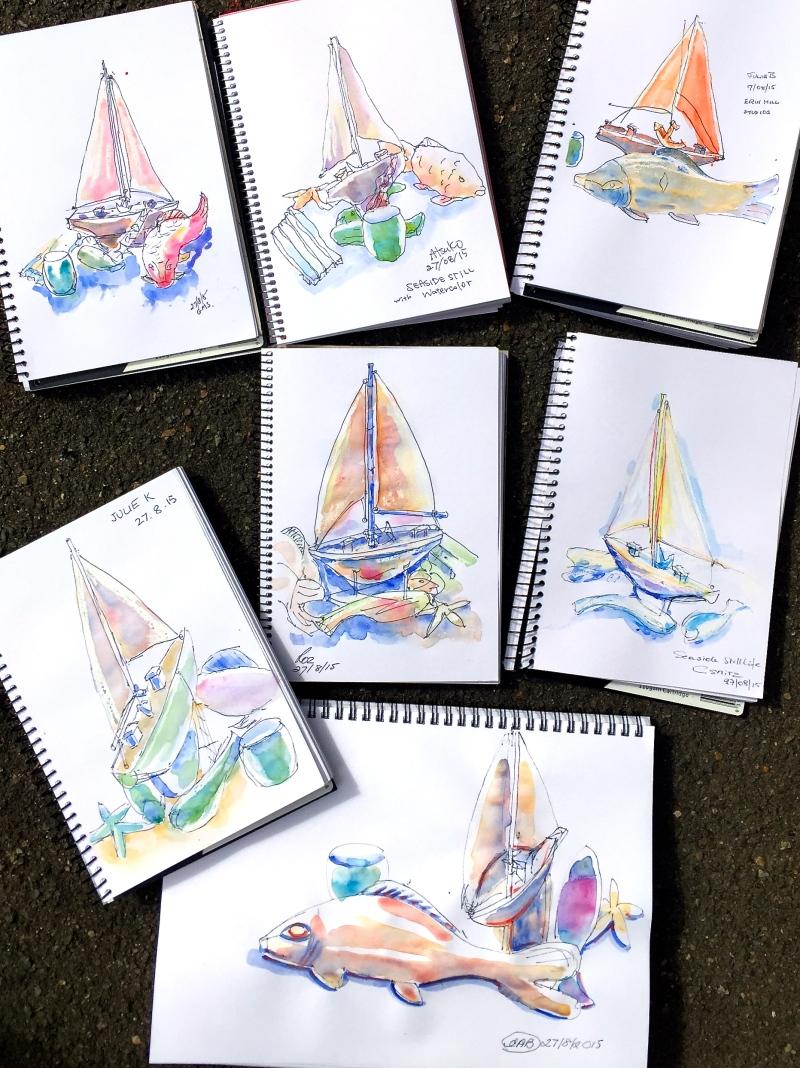 Thursday. Still life in watercolour