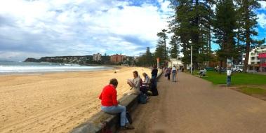 Thursday. Wide stretch of beach