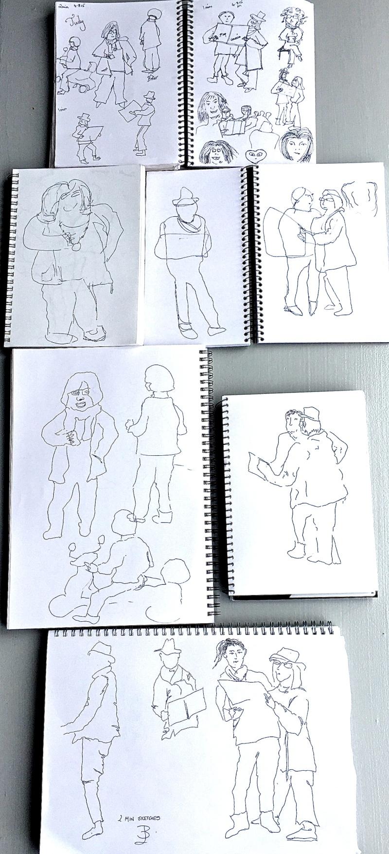 Tuesday. Contour sketching