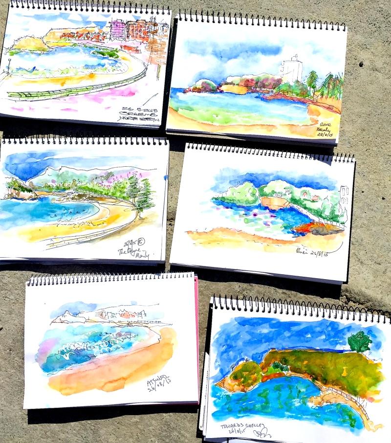 Wednesday. Beach sketches
