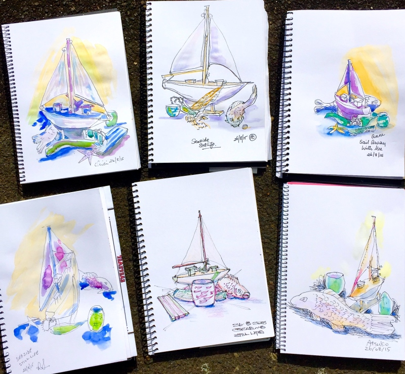 Wednesday. Seaside sketches