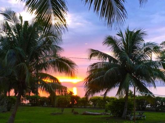 Farewell Fiji. Pastel sunset