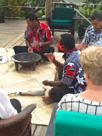 Saturday Fiji. Clap once to take kava.