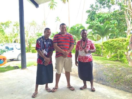 Saturday Fiji. Harry, Aubrey, George