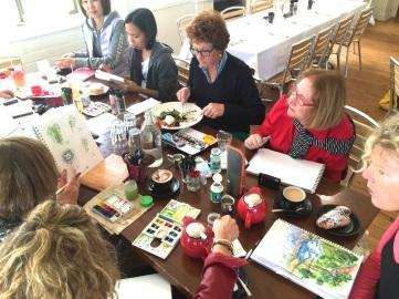 Saturday. Lunch & sketch at Bella Vista
