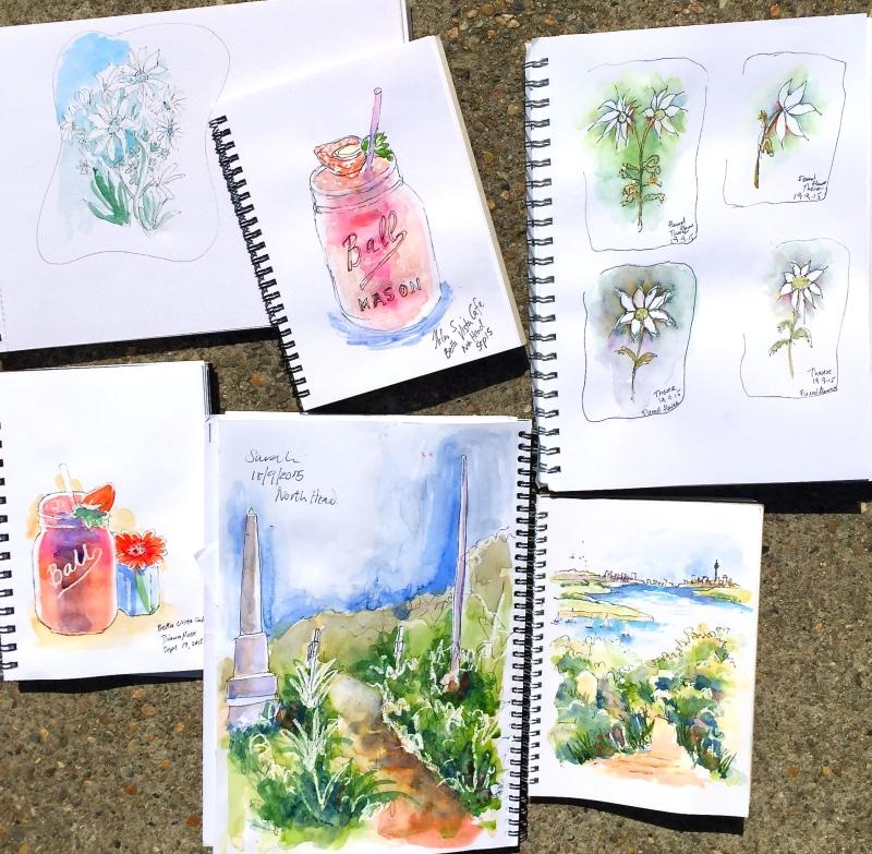Saturday. Other sketches. Bella Vista