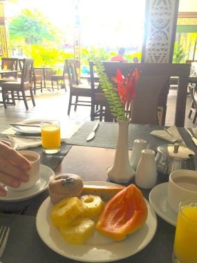 Sunday Fiji. Last bfast Nadi.