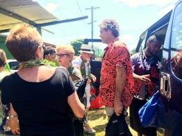 Thursday Fiji. Arriving at Naidi Village