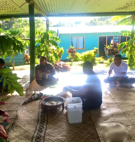 Thursday Fiji. Before the kava ceremony