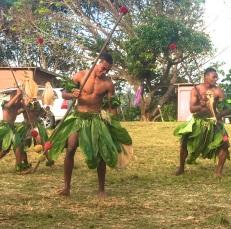 Thursday Fiji. The boys perform the Meke