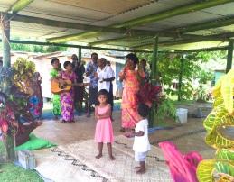 Thursday Fiji. The women's welcome songs