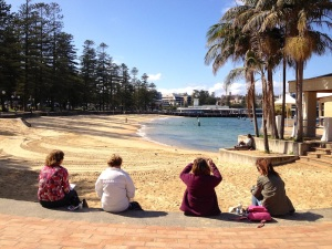 Thursday. Sketching at Manly Beach